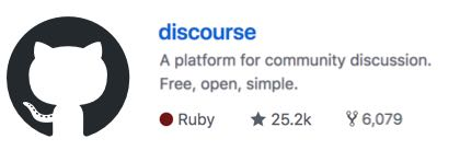 discourse's github page